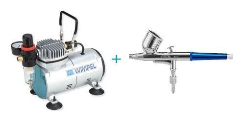 Kit Aerografia Compressor Comp1 Wimpel E Aerógrafo Bc610.2