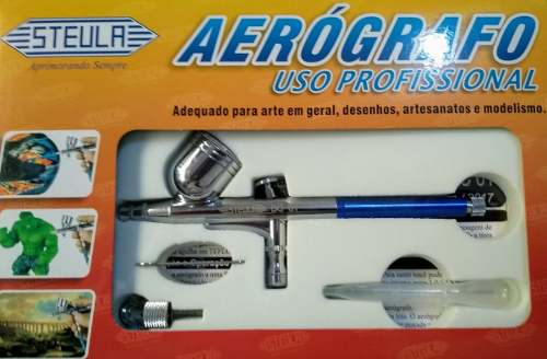 Compressor Comp1 Wimpel+ Mangueira+ Aerógrafo Bc61 Bico 0.3