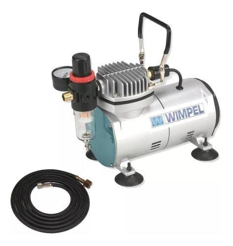 Kit Aerografia Wimpel Compressor Comp-1 E Aerógrafo Mp-1004