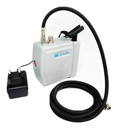 Kit Aerografia Completo Wimpel Mini Compressor+aerógrafo 0.2