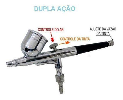 Kit Aerografia Wimpel Comp3 C/ Aerógrafo Mp1001 Mini Filtro