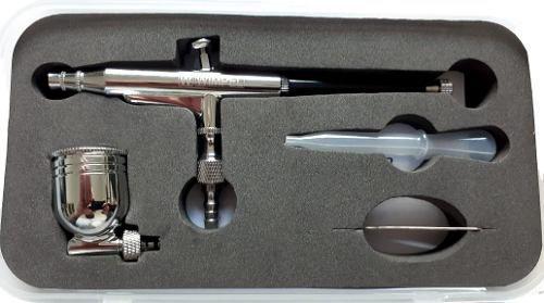 Kit Aerógrafo E Compressor Para Pigmentação Cabelos E Barba