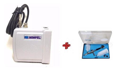 Kit Para Aerografia Compressor Comp3 E Aerógrafo Mp1004
