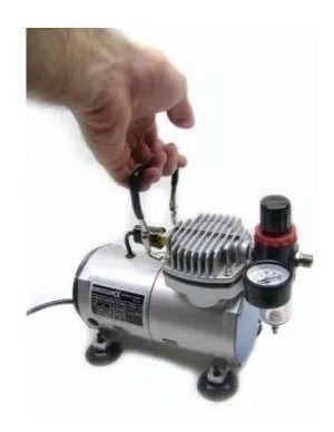 Compressor Comp1 Wimpel+ Mangueira+ Aerógrafo Bc61 Bico 0.2