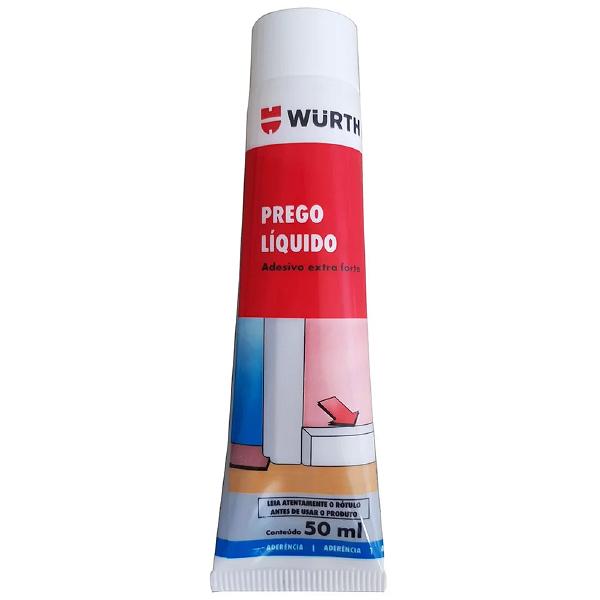 Adesivo Selante Prego Líquido 50ml/80g - WURTH-0892180051