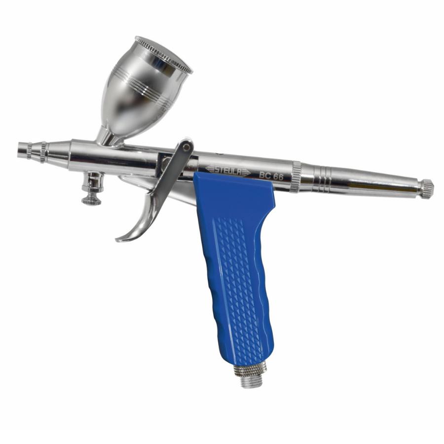 Aerógrafo Profissional Dupla ação Mini Pistola STEULA Bico 0.8 mm Copo 12 ml
