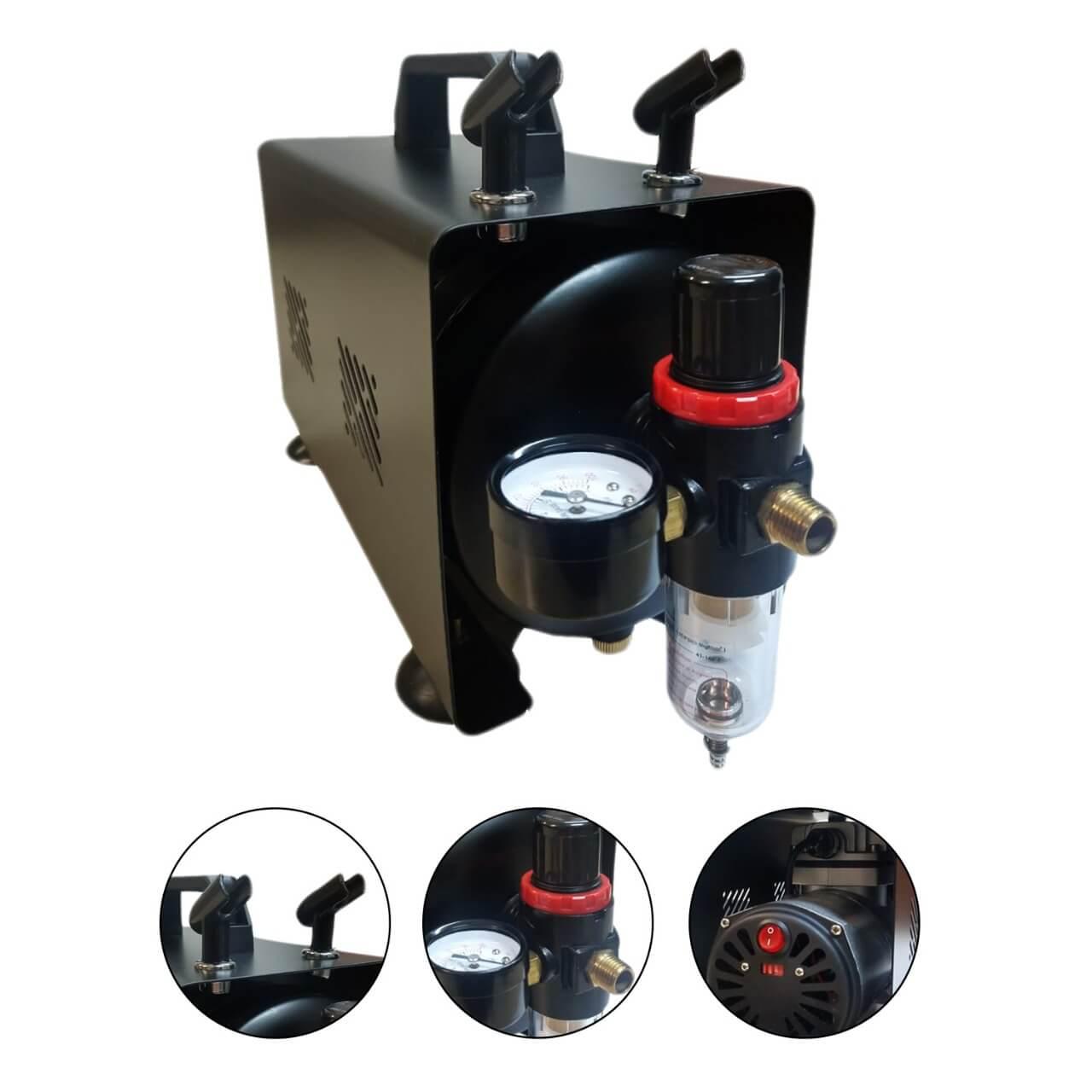 Compressor para Aerografia BIVOLT com Reservatório de 1 Litro