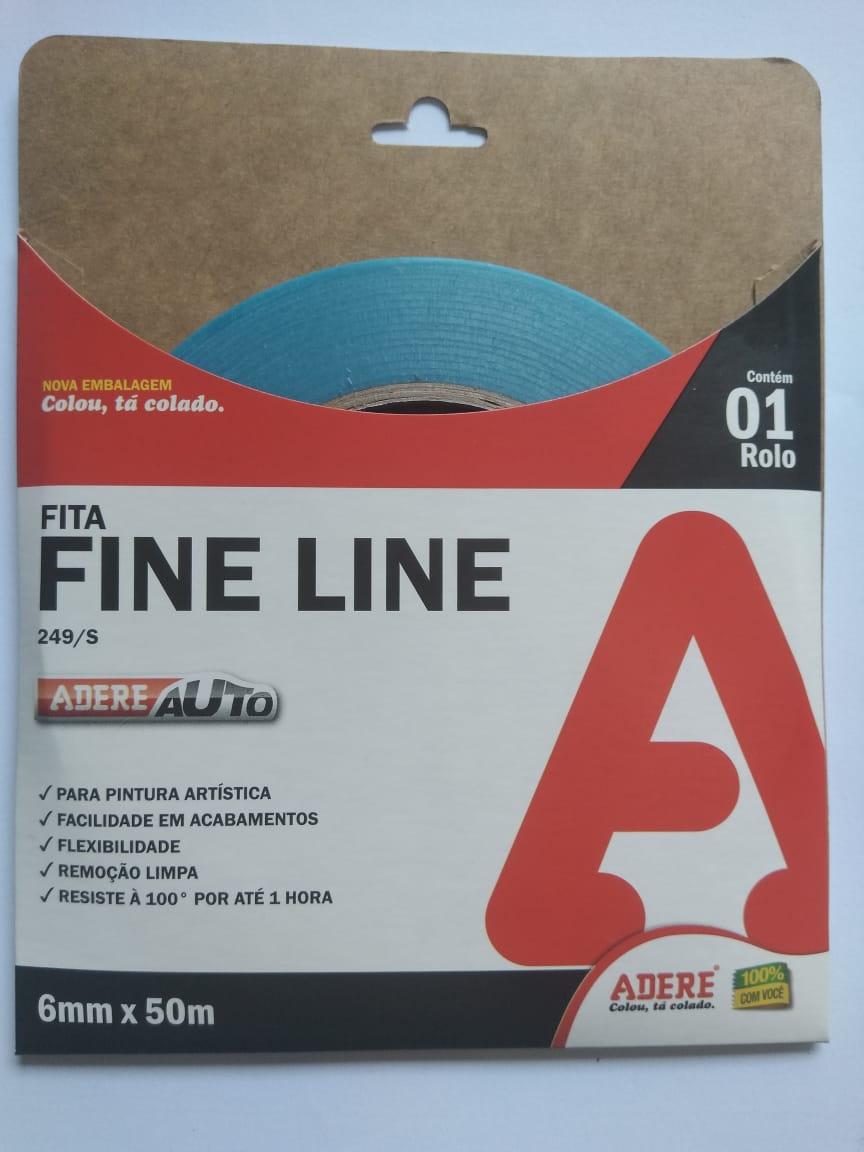 Fita Filete Fine Line Automotiva Azul 6mm x 50m Adere