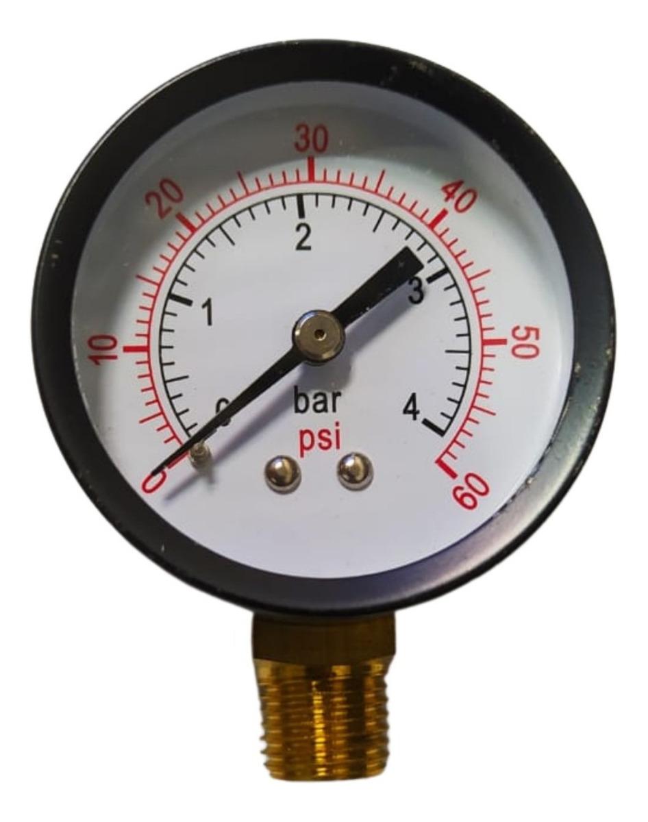 Manômetro Rosca Vertical 1/8 40 mm 0 á 4 Bar