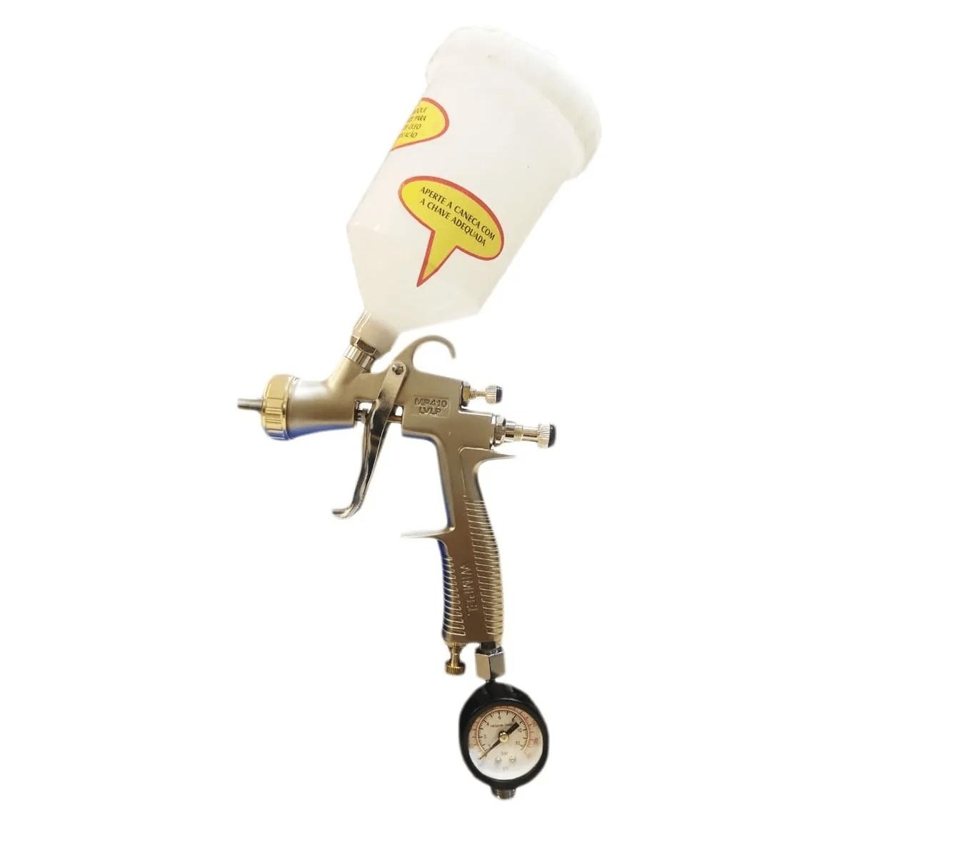 Pistola de Pintura Gravidade LVLP Bico 1.3 mm 600 ml com Maleta WIMPEL MP-410