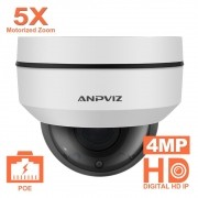 Mini Speeddome Anpviz Ptz Camera Onvif 4Mp 5X Zoom 2.7-13.5M