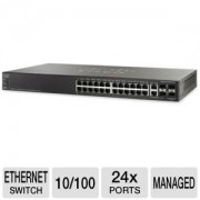 Switch 24P Cisco Sf500-24P-K9-Na Gerenciavel 24 Poe+ 4 Sfp