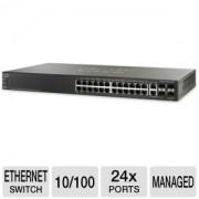 Switch 24P Cisco Sf500-24P-K9-Na Gerenciavel 24 Poe+ 4 Sfp