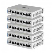 Ubnt Us-8-5 Pack Unifi Switch 8 Portas Poe Rj45