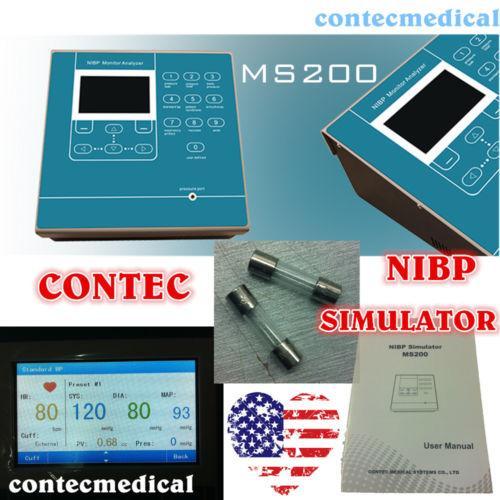 Contec Ms200 Nibp Simulador Pressão Arterial Lcd Colorido