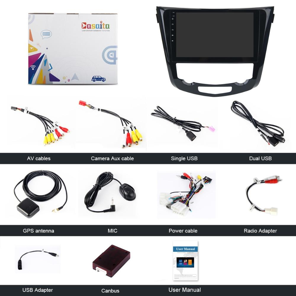 "Dasaita 10.2"" Android 8.0 Gps Player Nissan X-Trail Qashqail"