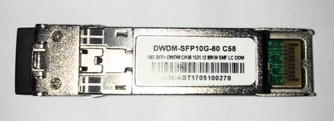 F. M Sfp+ 10G 80Km Dwdm-Sfp10G-80 C58 C/Cisco Mux-Demux