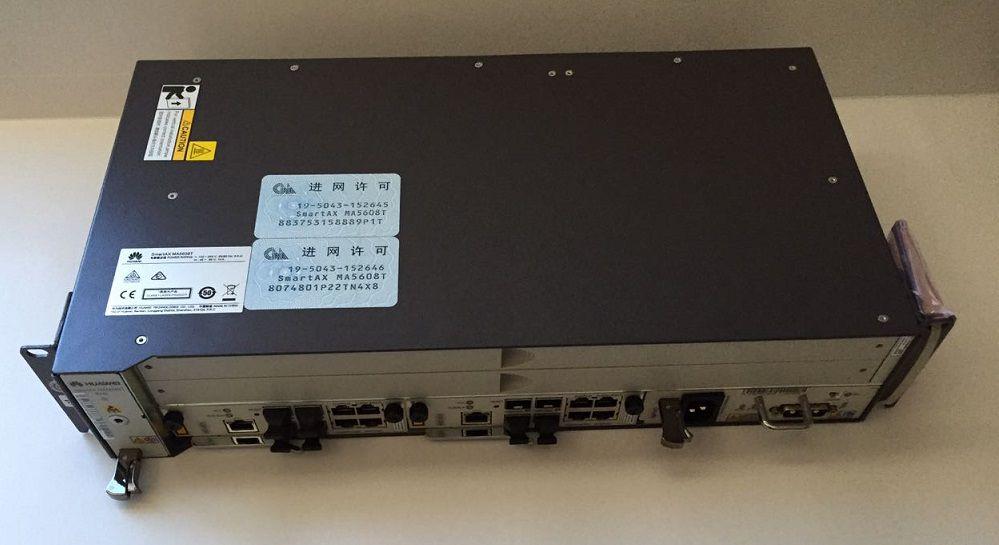 F. Olt Huawei 02U Mini Ma5608T 02Xuplink 10G(Mcud1)+1Mpwd Ac
