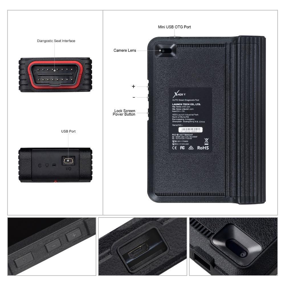 Launch X431 V8 Bluetooth Wi-Fi Ferramenta De Diagnóstico