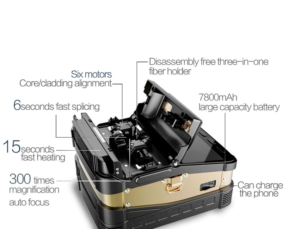 Máquina De Fusão Ai-8 Emenda De Fibra Óptica Fiber Splicer