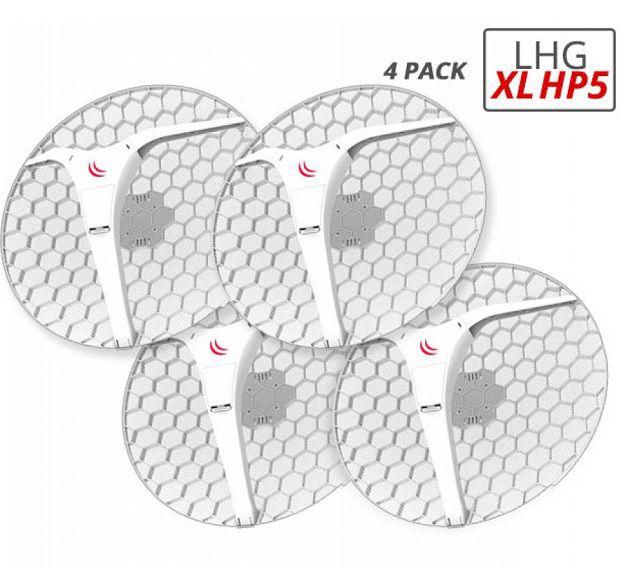 Mikrotik- Routerboard Rblhg-5Hpnd-Xl (Lhg Xl Hp5) 4 Pack