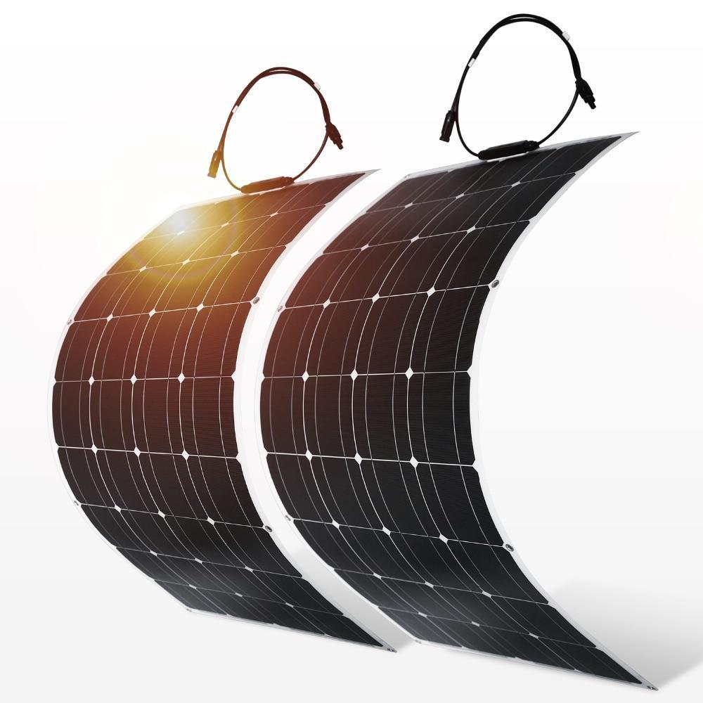 Painel Solar 100W Flexível Carro/Barco/Navio 12 e 24V  100w