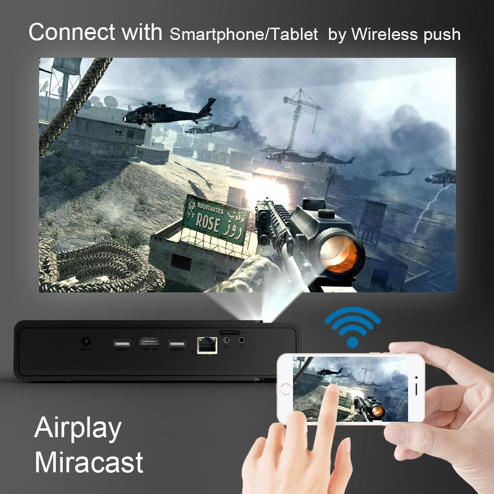 Projetor 3D Byintek R15 Dlp Ufo Usb Mini Hd Android 1080P