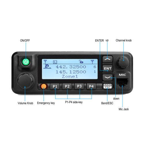 Retevis Rt90 Dmr Dual Band Display Digital 50W Mobile