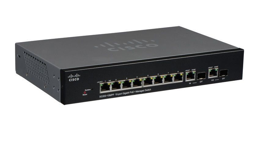 Switch 10P Cisco Sg300-10Mpp-K9 8X10/100/1000 Poe 2P Sfp