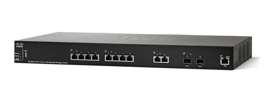 Switch 12P Cisco Sg350Xg-2F10-K9-Na 10X10Gbase 2Xcombo 10G