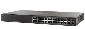 Switch 24P Cisco Sf500-24-K9-Na Gerenciavel 24 10/100+4 Sfp