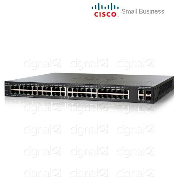 Switch 48P Cisco Sf200 Slm248Pt-Na Poe + 2P Sfp