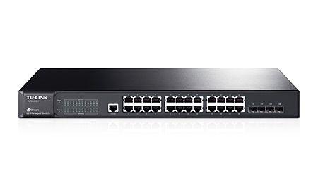 Tp-Link Hub Switch 24P T2600G-28Ts Tl-Sg3424 Jetstream 4Sfp