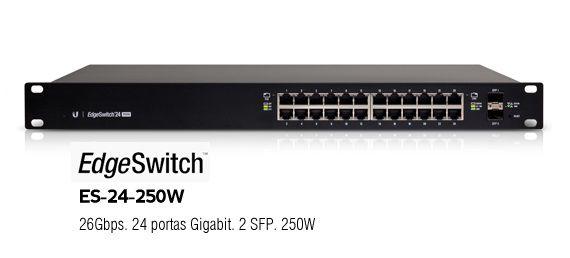 Ubnt Es-24-250W-Br Edge Switch 24 Rj45 Poe+ 2 Sfp