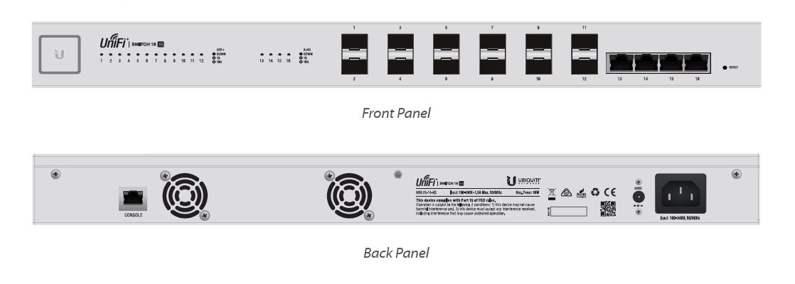 Ubnt Us-16-Xg Unifi Switch 12P 10G Sfp+ 4P 10G Rj45
