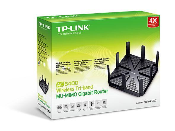 W. Tp-Link Archer C5400 Router Ac5400 Tri-Band Gigabit**