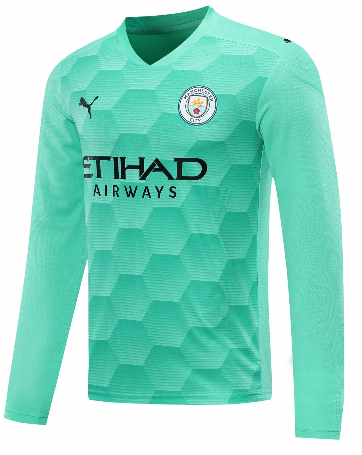 Camisa Manga Longa Manchester City 2021 Uniforme Goleiro Dry Cell