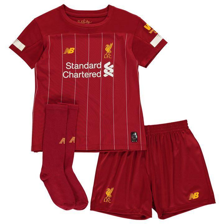 Kit Infantil Liverpool 2020 Uniforme Titular Completo New Balance