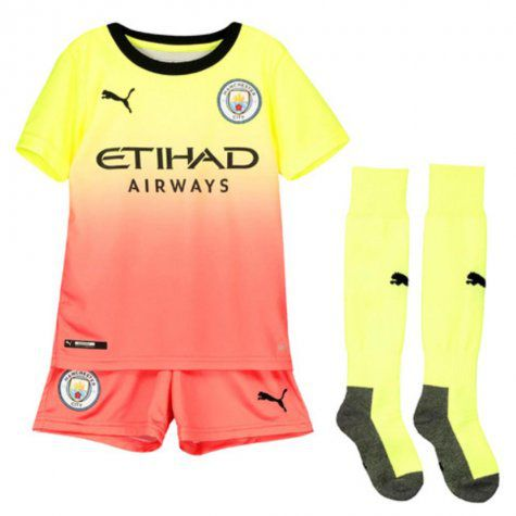 Kit Infantil Manchester City 2020 Uniforme 3 Completo Dry Cell