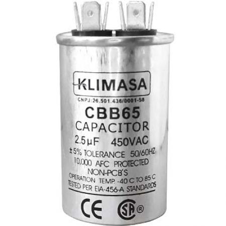CAPACITOR PERMANENTE CBB65 2.5UF - 450VAC