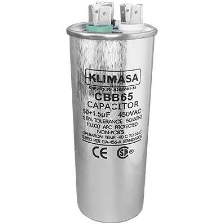 CAPACITOR PERMANENTE DUPLO 50+1.5UF - 450VAC