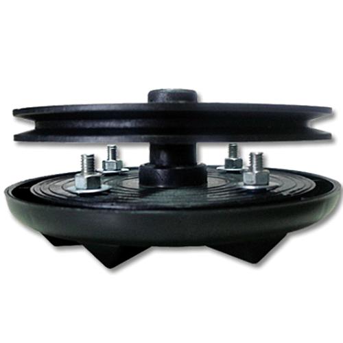 Agitador 4 parafusos com Bucha de Ferro e Polia de 180mm Preto
