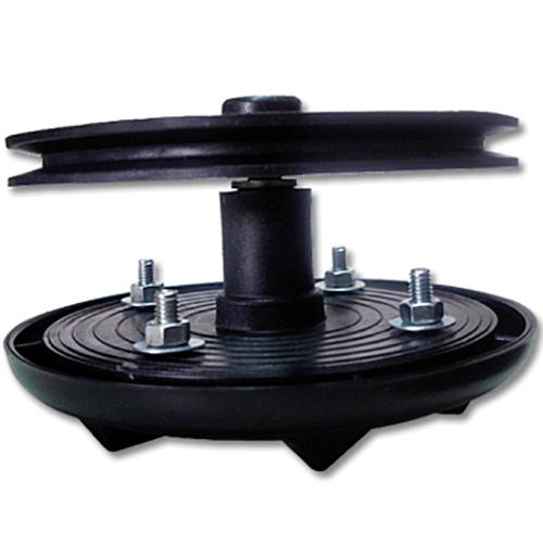 AGITADOR 4P 5/16 PRETO Ferro E.50mm P.180mm Agitador com 4 Parafusos 5/16 Bucha de ferro Polia de 180mm Universal