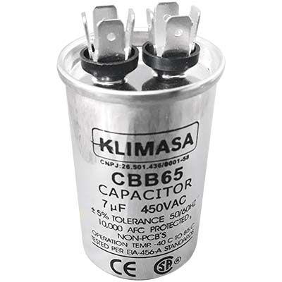 CAPACITOR PERMANENTE CBB65 7.0UF - 450VAC