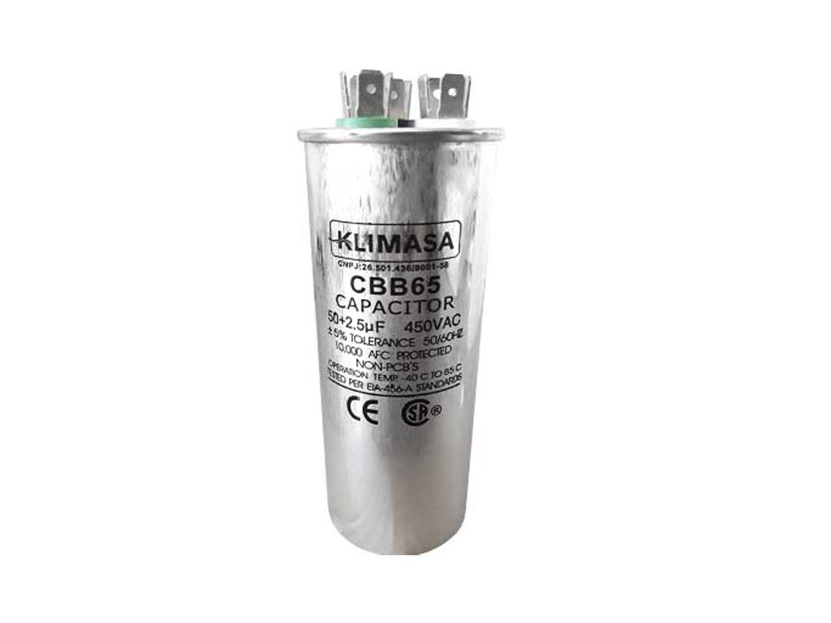 CAPACITOR PERMANENTE DUPLO 50+2.5UF - 450VAC