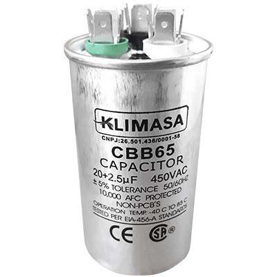 CAPACITOR PERMANENTE DUPLO 20+2.5UF - 450VAC