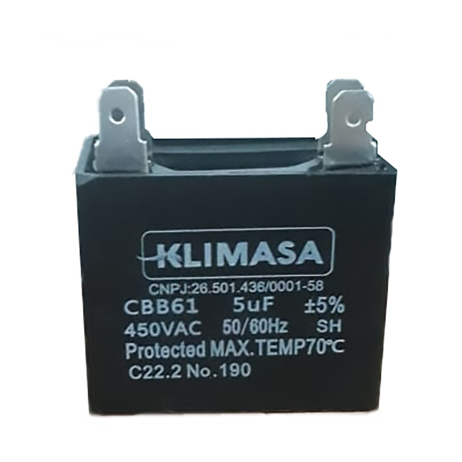 CAPACITOR RETANGULAR CBB61 5.0UF - 450VAC