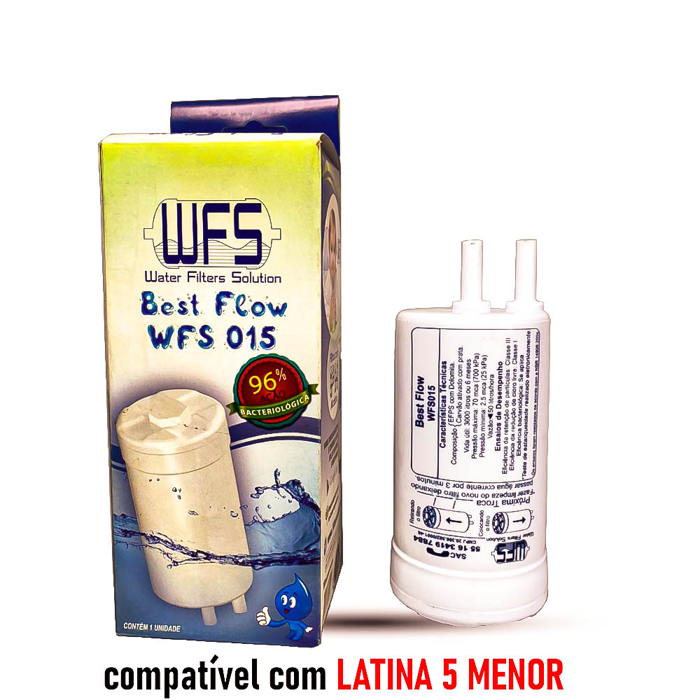 FILTRO BEBEDOURO 5 ESTAGIOS P635 (BEST FLOW) Refil Purificador Latina  Wfs 015  Best Flow