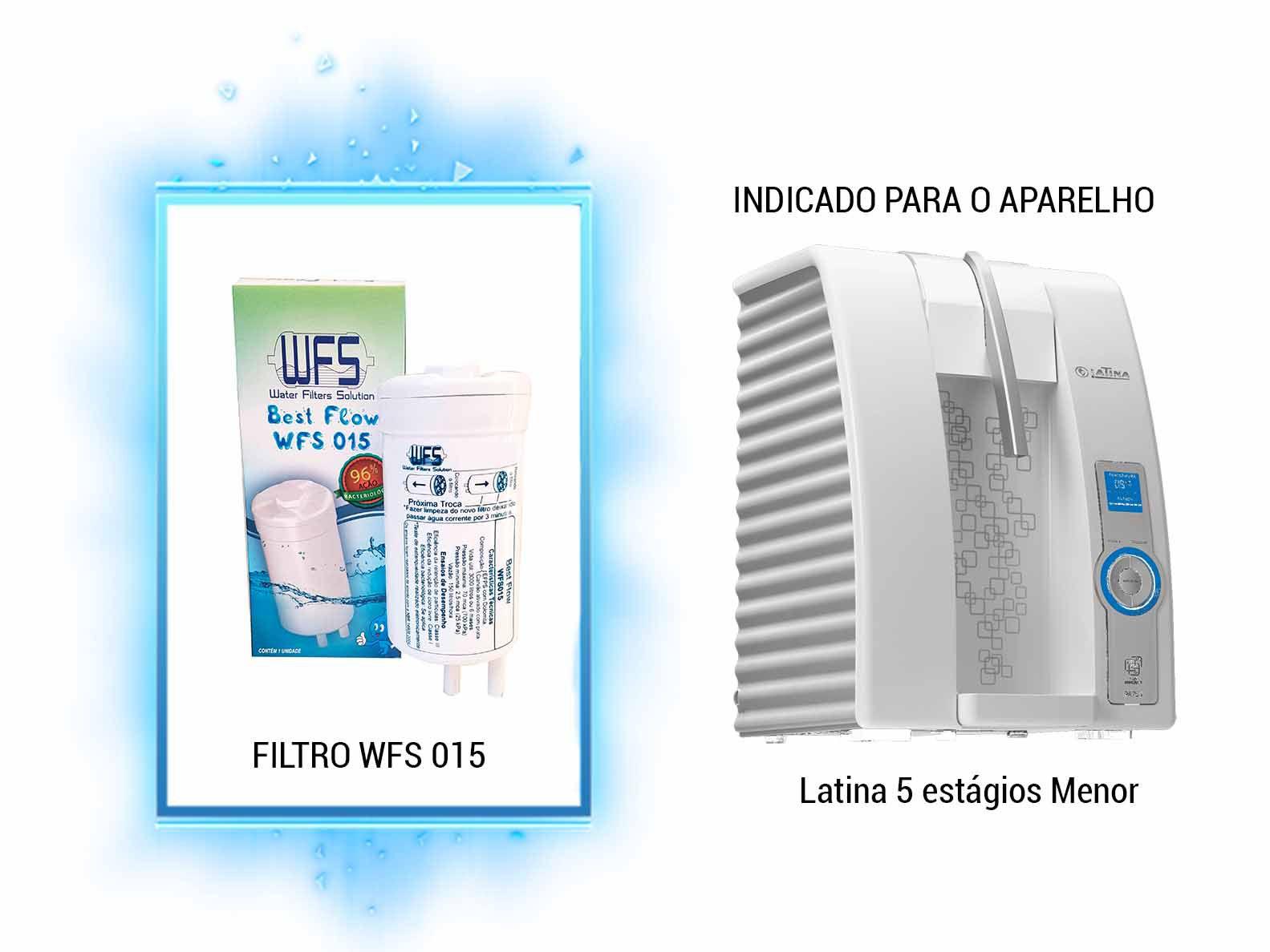 FILTRO BEBEDOURO 5 ESTAGIOS P635 (BEST FLOW) Refil Purificador Latina| Wfs 015 |Best Flow