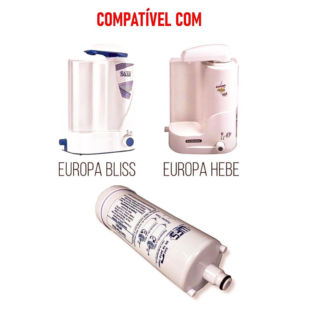 FILTRO BEBEDOURO EUROPA (EUROFLOW BLS) Refil Purificador Europa Bliss| Wfs 021 | Europa Flow BLS